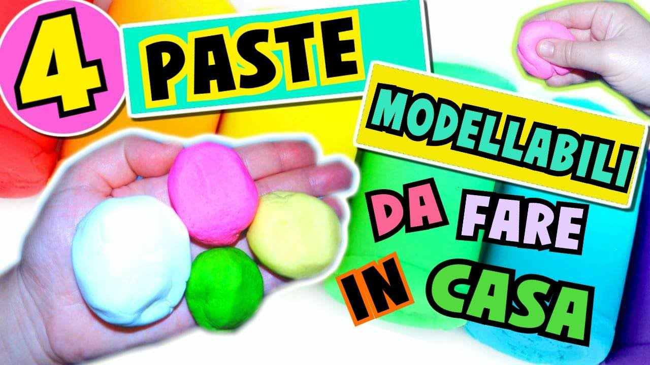 Super 4 PASTE MODELLABILI da fare IN CASA (Pongo,Porcellana fredda  CI92