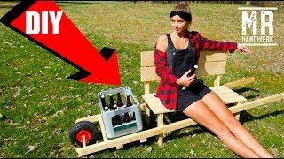 Bierkisten Schubkarre für Vatertag selber bauen ! - ANLEITUNG -