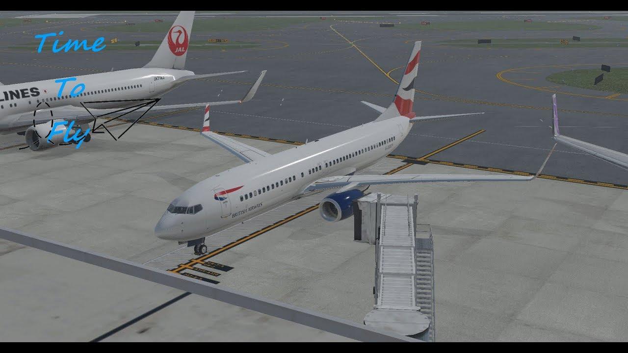 X Plane 11: Schiphol to Heathrow - ZIBO Modified 737