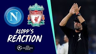 Klopp's reaction: 'It was intense, both teams fought hard' | Napoli vs Liverpool