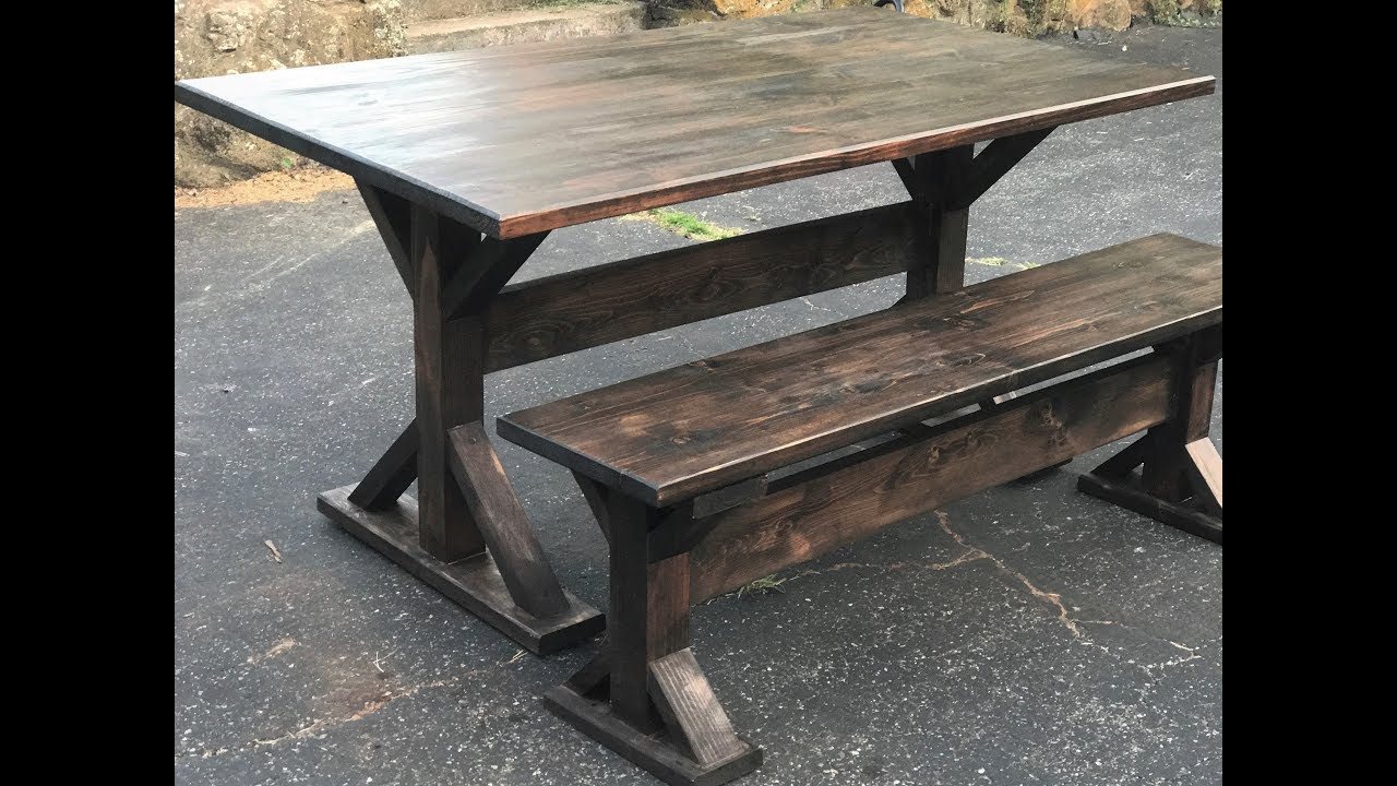 How To Build A Trestle Farmhouse Table Youtube