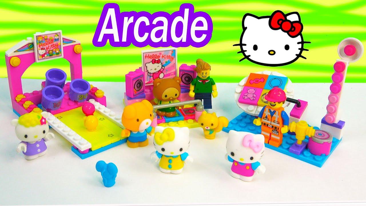 Hello kitty arcade games lego doll minifigure playset mega - Lego hello kitty maison ...