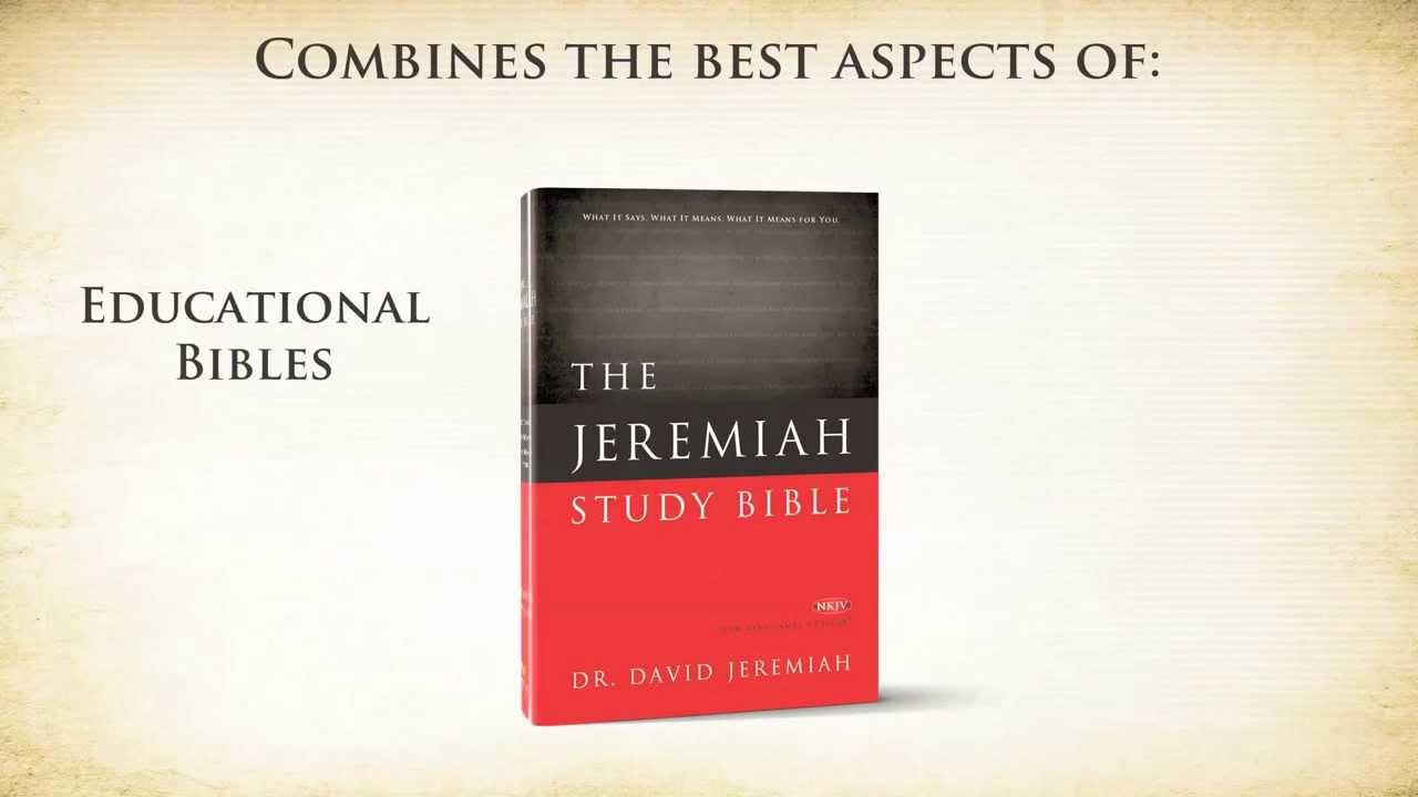 dr david jeremiah study bible