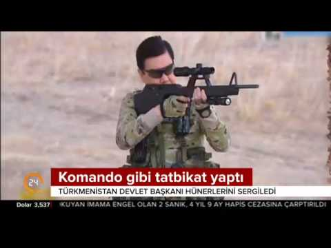 İşte Türkmenistan Devlet Başkanı Kurbankulu Berdimuhammedov'un çok konuşulan tatbikat klibi