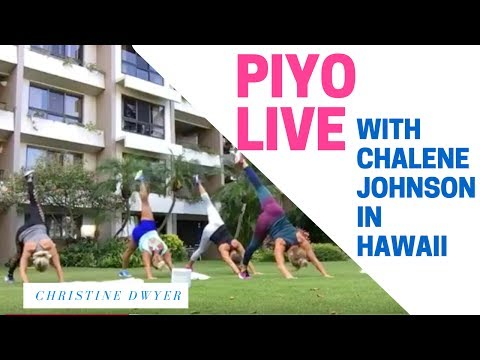 PiYo Workout LIVE with Chalene Johnson in Hawaii on Vacation