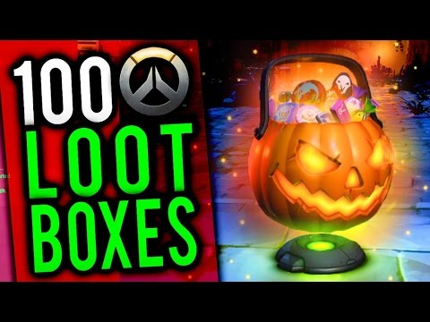 TRIPLE LEGENDARIES! - OVERWATCH 100 HALLOWEEN LOOT BOX OPENING + NEW BRAWL
