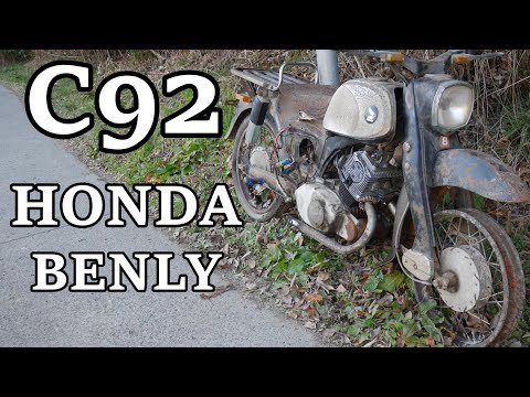 ホンダベンリィC92 とりあえずエンジンは・・・。このまま廃車体放置か!?  Honda Benly C92.... Will it be abandoned?
