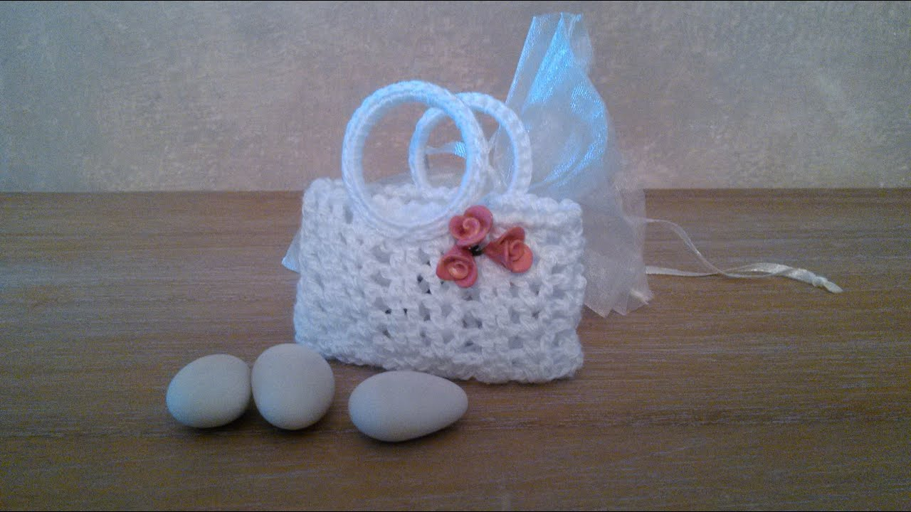 Favoloso Bag bombonniere crochet - YouTube KM62