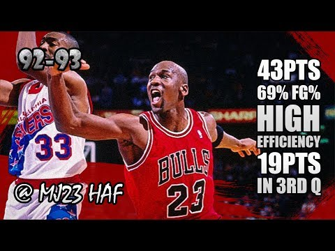 Michael Jordan Highlights vs Sixers (1993.03.24) - 43pts, Carrying the team, 19 in the 3RD Q!