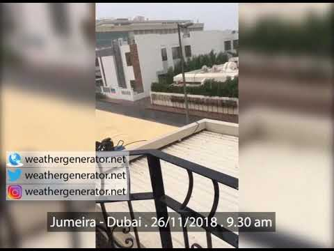 Jumeirah Rain, from rooftop of Junaid Khoory villa