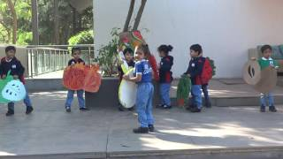 Role play on FRUITS done by kids - Bodakdev Campus