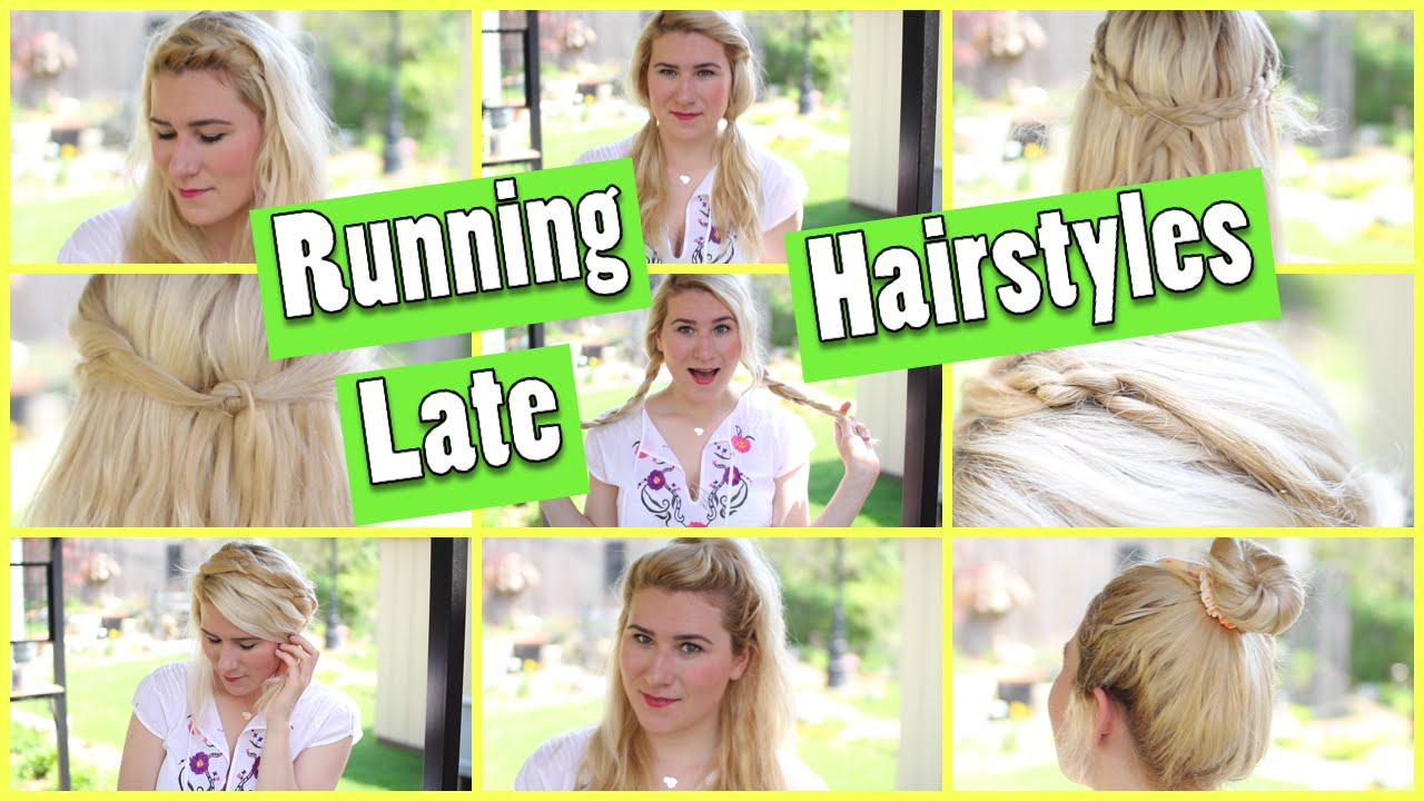 easy running late hairstyles