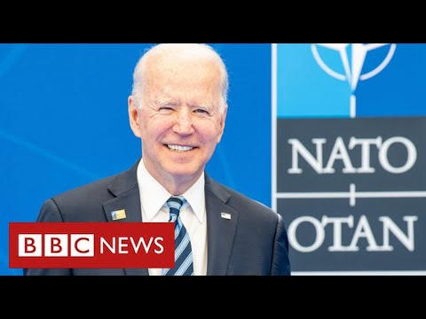 """President Biden says NATO is """"critically important"""" to US interests - BBC News"""