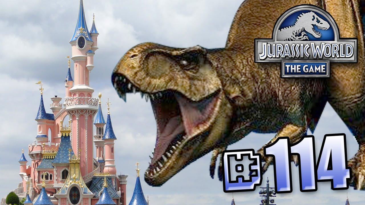 Jurassic World At Disney Land Jurassic World The Game Ep 114 Hd Youtube
