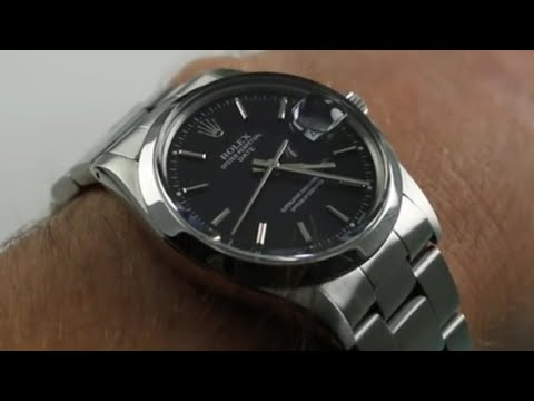 Rolex Oyster Perpetual Date 15000 Luxury Watch Review