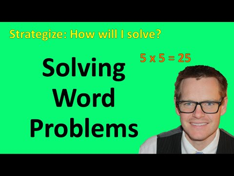 Good way to solve math word problems