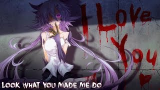 Nightcore - Look What You Made Me Do (Rock Version) || Lyrics