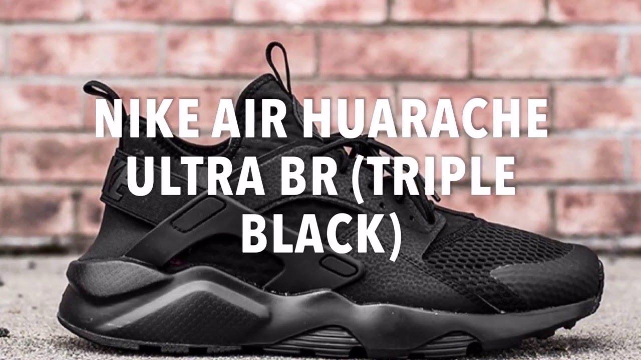 Nike Air Huarache Triple Examen Noir meilleures affaires véritable vente vente Boutique prix d'usine réduction abordable k6pv0nk9l