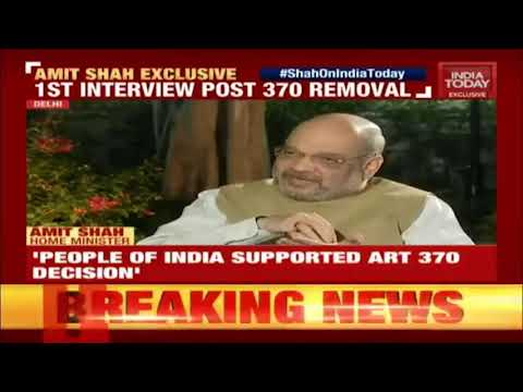 Shri Amit Shah's interview on India Today: 13.10.2019
