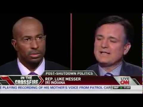 Van Jones VS GOP Rep.  Luke Messer on Crossfire: How Do You Justify Voting for Economic Catastrophe?