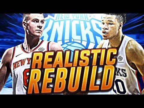2 SUPERSTAR SIGNINGS! 2019 REALISTIC KNICKS REBUILD! NBA 2K18