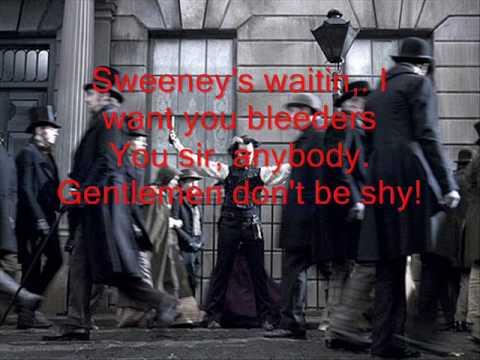 Sweeney Todd: The Demon Barber of Fleet Street - Epiphany (Lyrics)