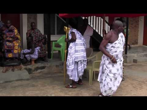 Paramount Chief of Akwamu State, Odeneho Kwafo Akoto III arrives at Palace yard.