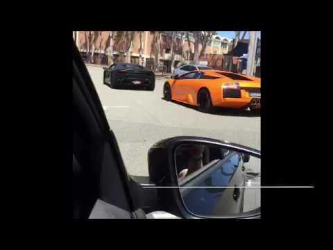 4 Lamborghinis and a Maserati lurking the streets of Perth, Western Australia