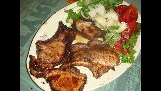 свиная корейка на мангале, простейший вкусный ужин
