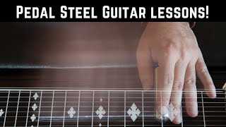 Beginner Descending Major Scale Excercise for Pedal Steel Guitar