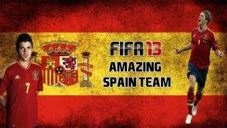 Fifa 13 Ultimate Team Squad Builder - AMAZING Spain Team