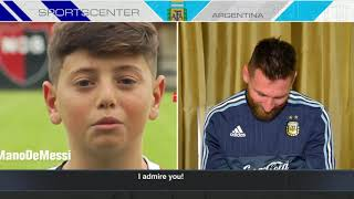 Lionel Messi joins SportsCenter Argentina to see messages sent from young fans back home. ✓ Subscribe to ESPN on YouTube: ...