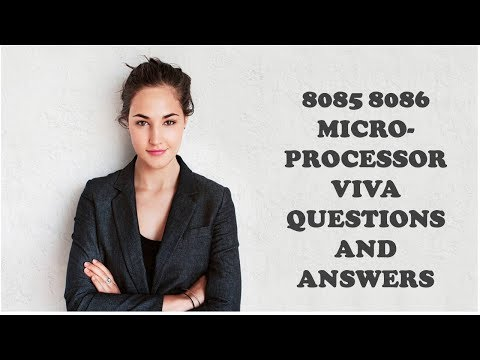 8085 8086 MICROPROCESSOR VIVA QUESTIONS AND ANSWERS
