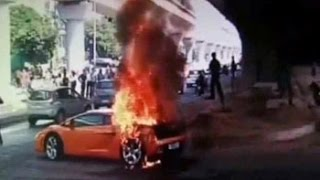 Ouch. Rs 2.5 crore Lamborghini went up in smoke