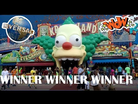 KrustyLand Carnival Games At Universal Studios Orlando Florida Midway Games Ball Toss & Ring Toss