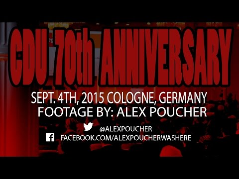 Cologne, Germany - 70th Anniversary of the CDU Party