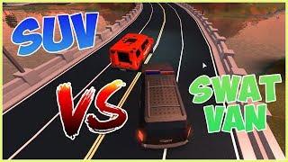 ROBLOX JAILBREAK SUV VS SWAT VAN! (SPEED TEST) (2018)