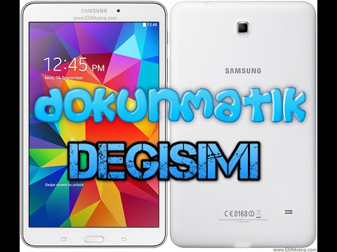 Samsung Galaxy Tab 4 Dokunmatik Değişimi - Touch Panel Replacement