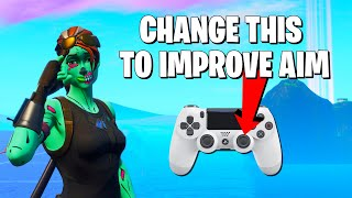 How To Improve Controller Aim WITHOUT L2 Spamming **Best Console Fortnite Settings