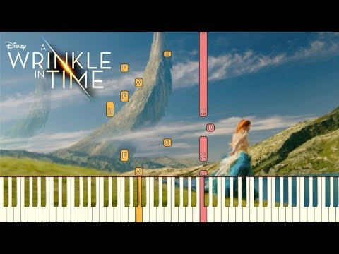 "Sade - Flower of the Universe (Disney's ""A Wrinkle in Time"")[Piano Tutorial] (Synthesia)"