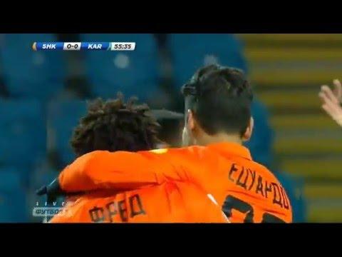 Shakhtar Donetsk-Karpaty 1-0 GOAL Alves da Silva EDUARDO  | Shakhtar-Карпати 1-0