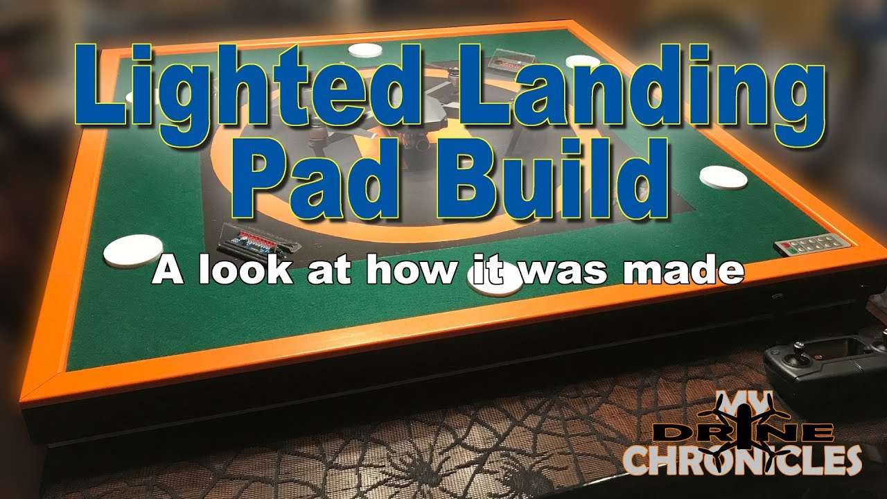 Building My Lighted Landing Pad - YouTube