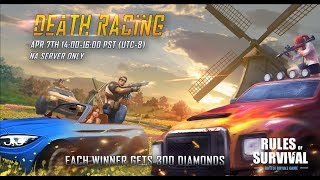 Death Racing - Rules of Survival Custom Game Tournament!