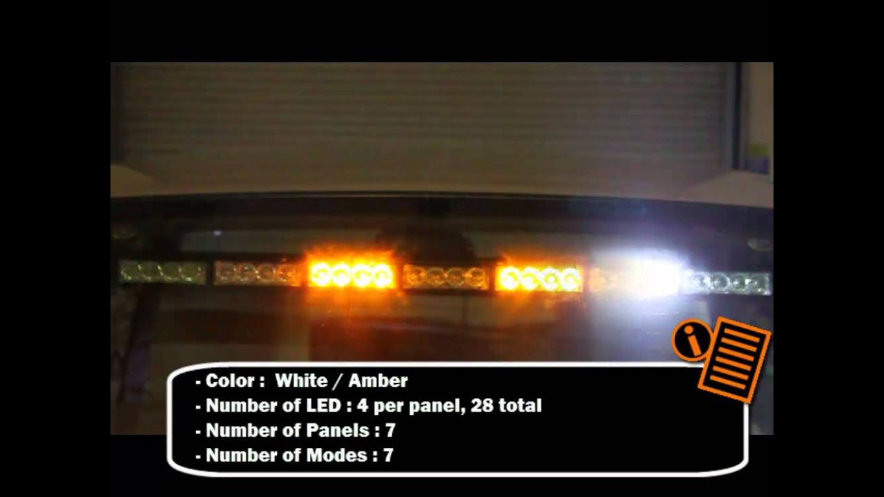 maxresdefault traffic advisor strobe light bar youtube  at edmiracle.co