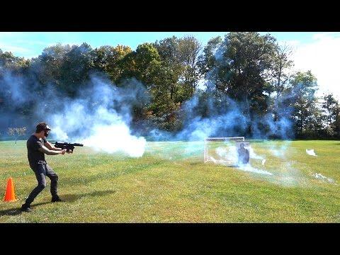 EPIC NEW FIREWORK MACHINE GUN!!