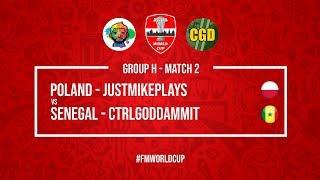 Poland vs Senegal | JustMikePlays vs CtrlGodDammit | Football Manager 2018 | #FMWorldCup