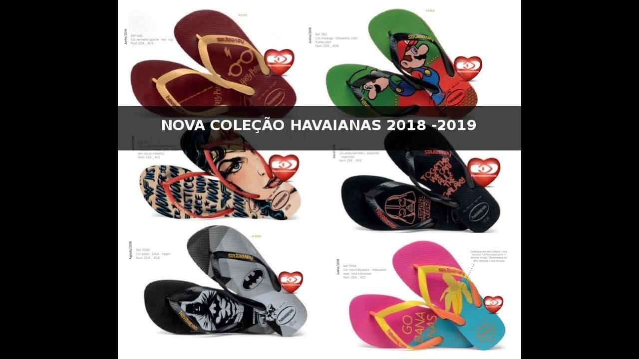 Coleção Havaianas 2018 2019