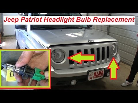 Jeep Patriot Headlight Bulb Replacement 2007  2015  YouTube