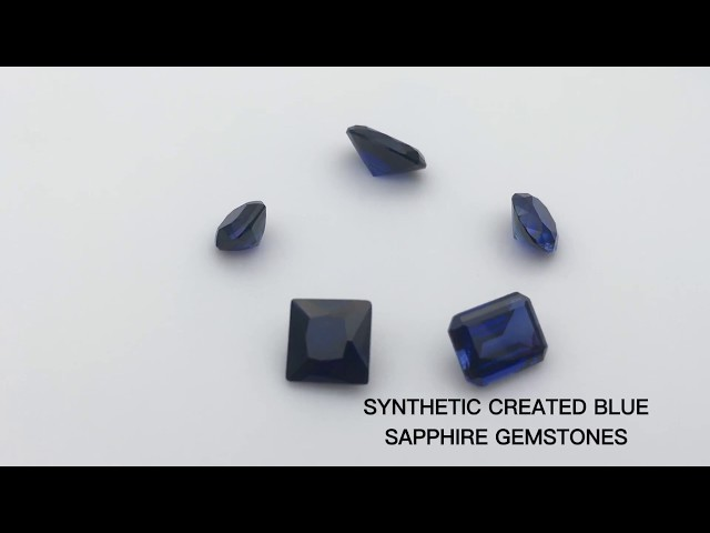 Synthetic Created blue Sapphire Gemstones china Suppliers and Wholesale