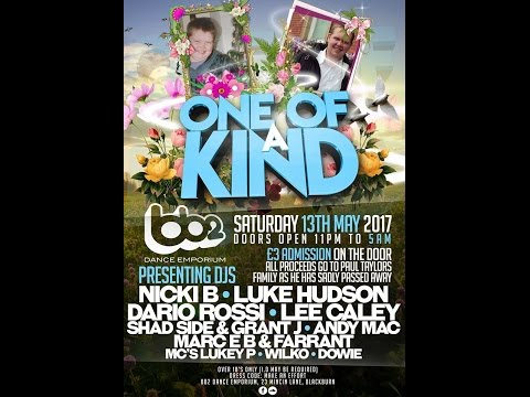 My Event//ONE OF A KIND//Dj Luke Hudson Live Set//13th May 2017//in Memory Of Paul Taylor